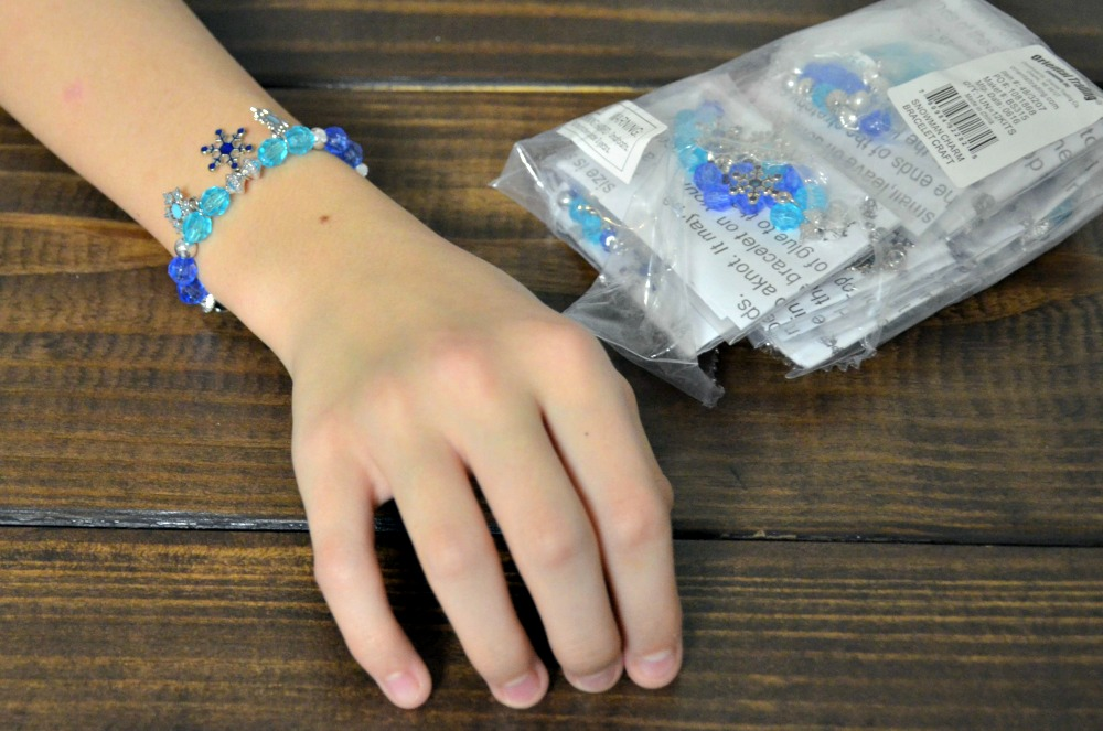 Activities to Keep Kids Busy Over Winter Break - Beaded snowman charm bracelet craft