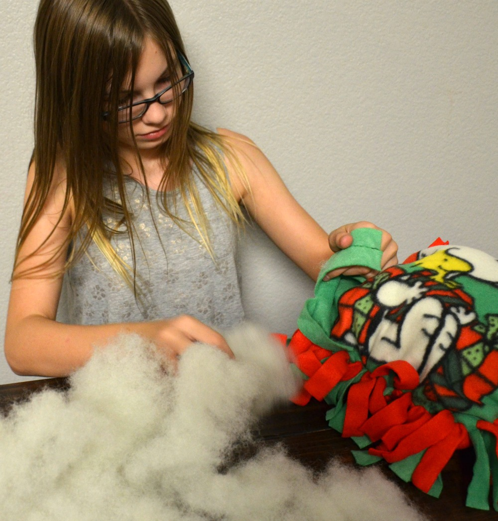 Activities to Keep Kids Busy Over Winter Break - DIY Peanut tied pillow kits