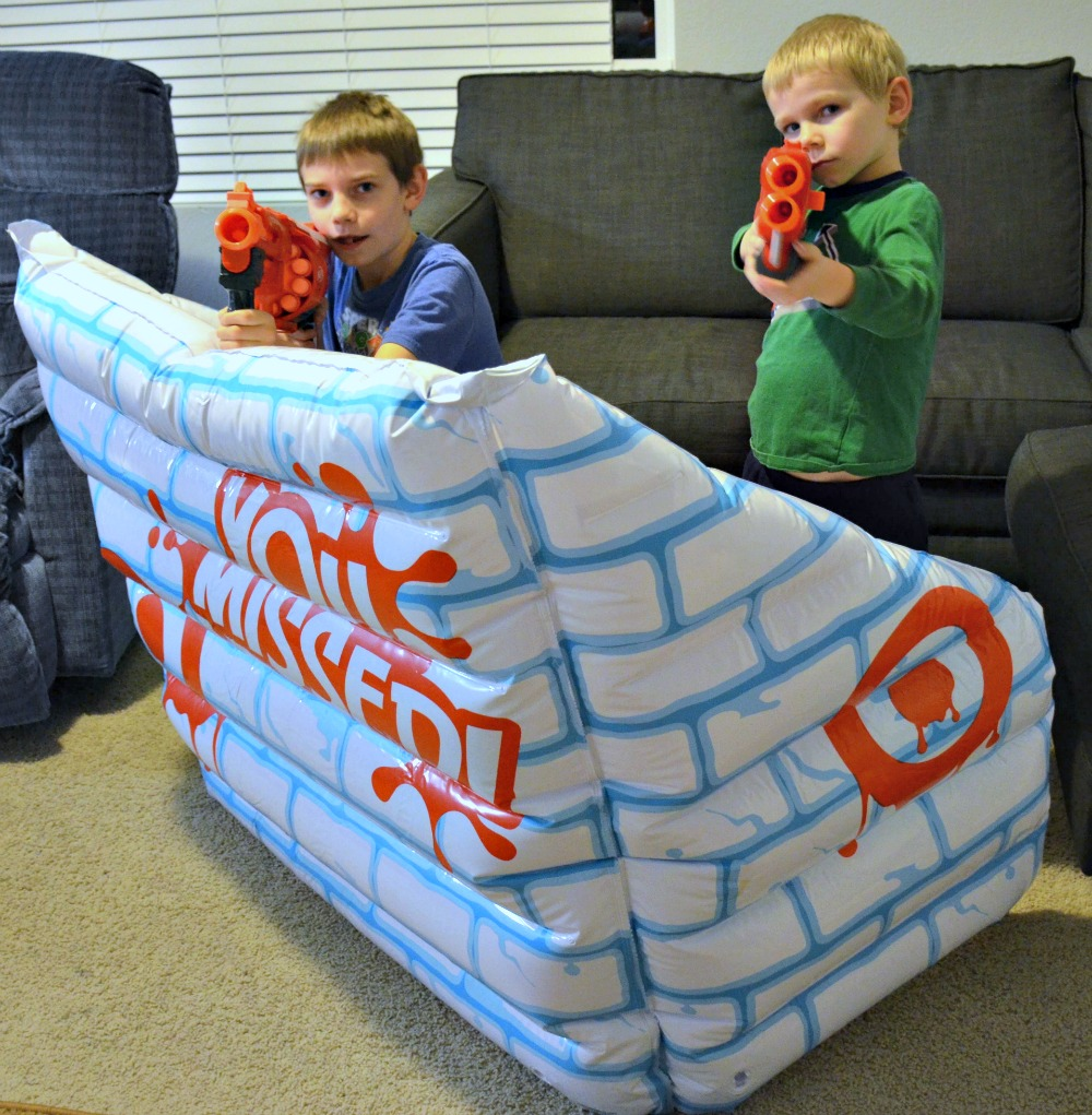 Activities to Keep Kids Busy Over Winter Break - Inflatable Snow Fort for indoor or outdoor play