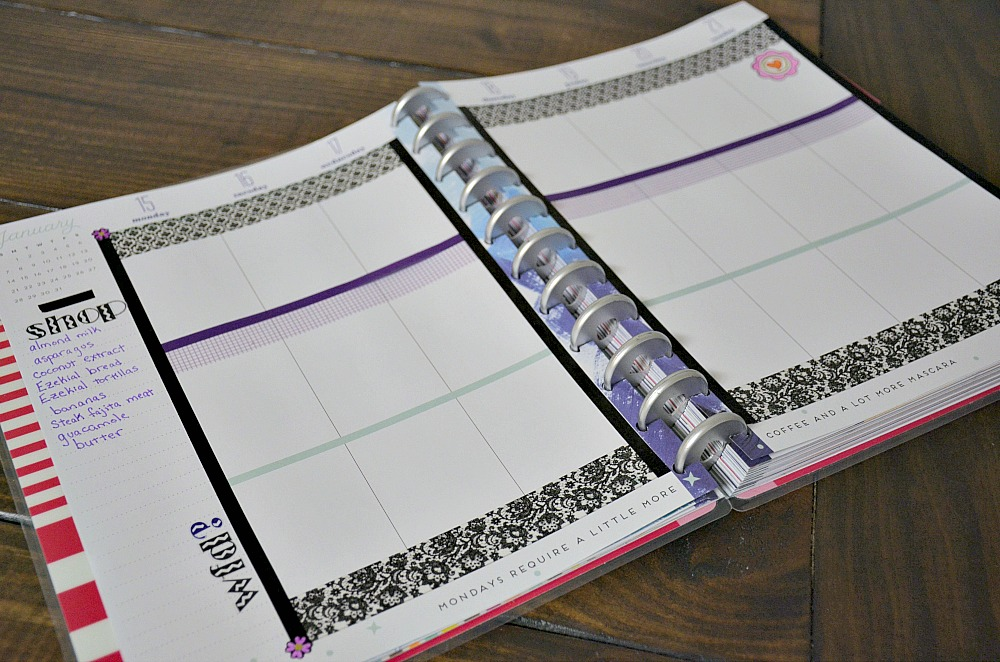 Meal Planner with Washi Tape from Oriental Trading for reaching my goals this new year