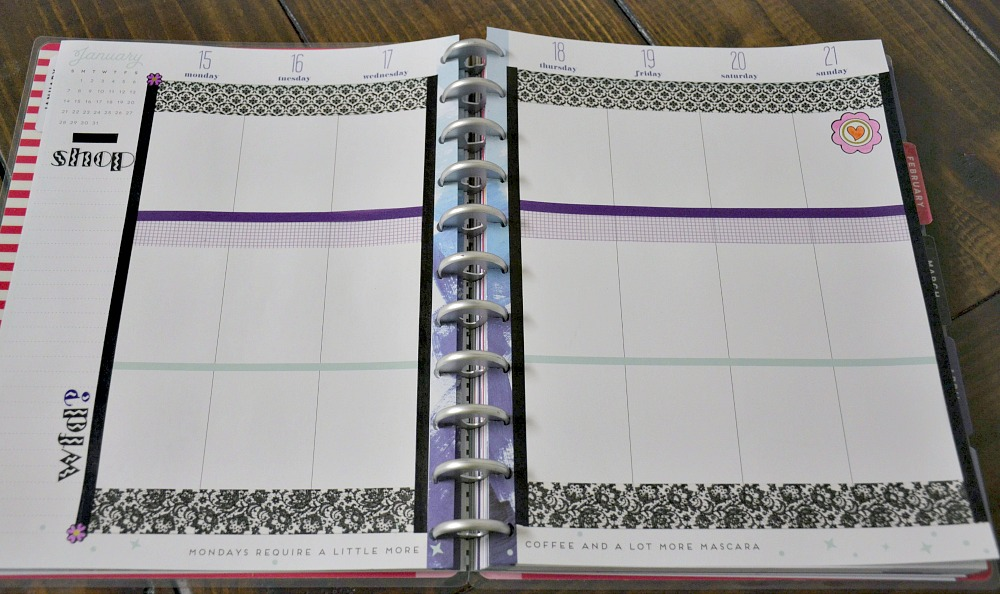 Meal Planner with Washi Tape from Oriental Trading