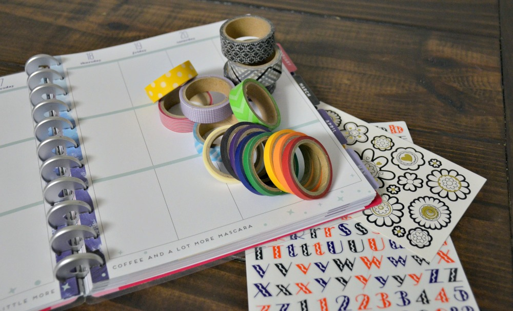 Planner Accessories from Oriental Trading - Washi Tape and Stickers