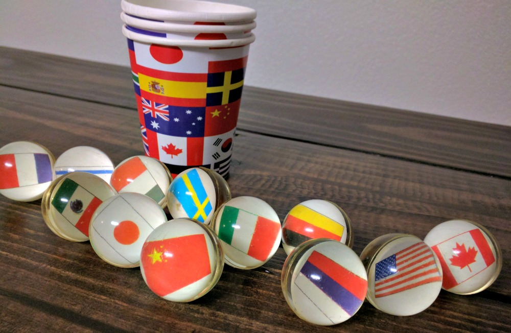 World Flags Party Supplies - Perfect for a themed party for the Olympics