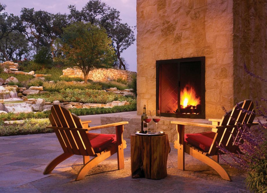 JW Marriott San Antonio Back Porch Fireplace