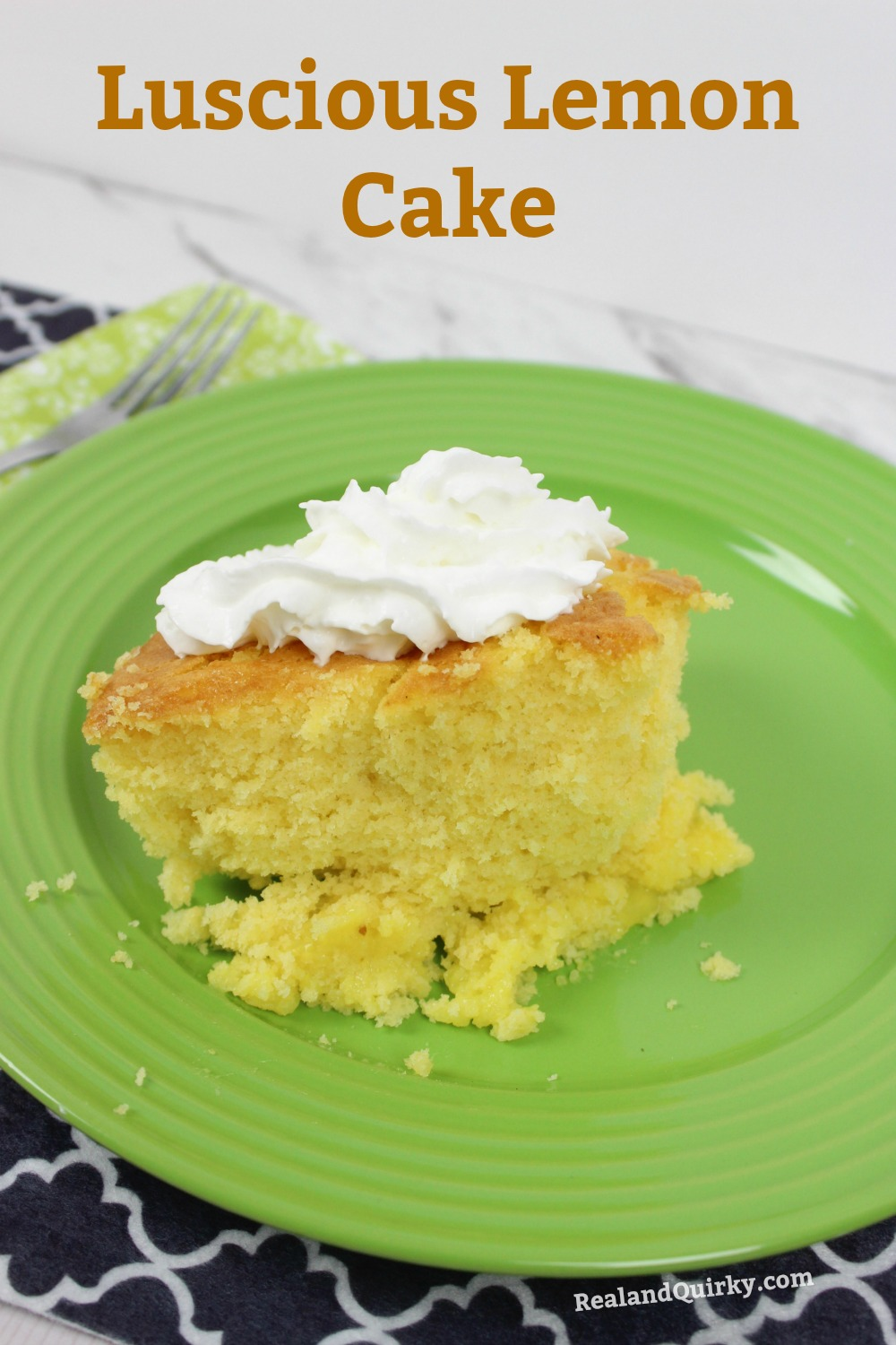 Luscious Lemon Cake Recipe from RealandQuirky.com