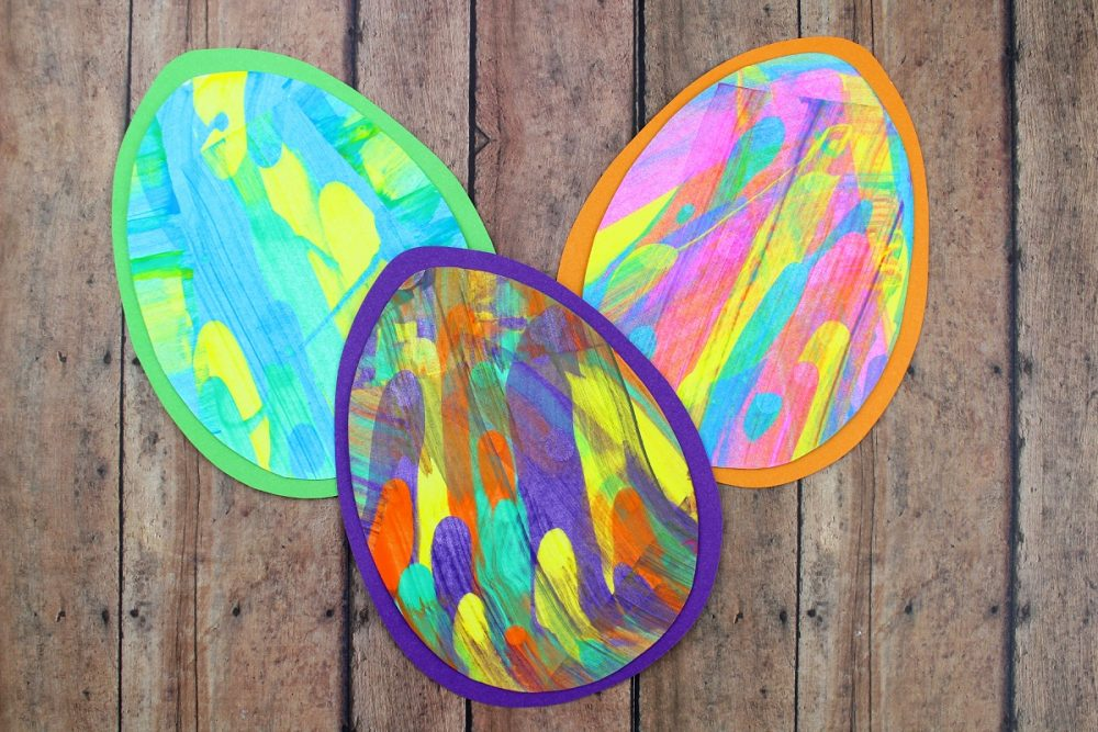 Spring Paint Scrape Craft – Perfect for Easter