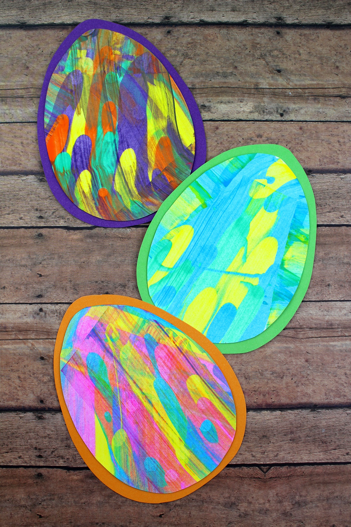 Paint Scrape Craft - Easter Eggs