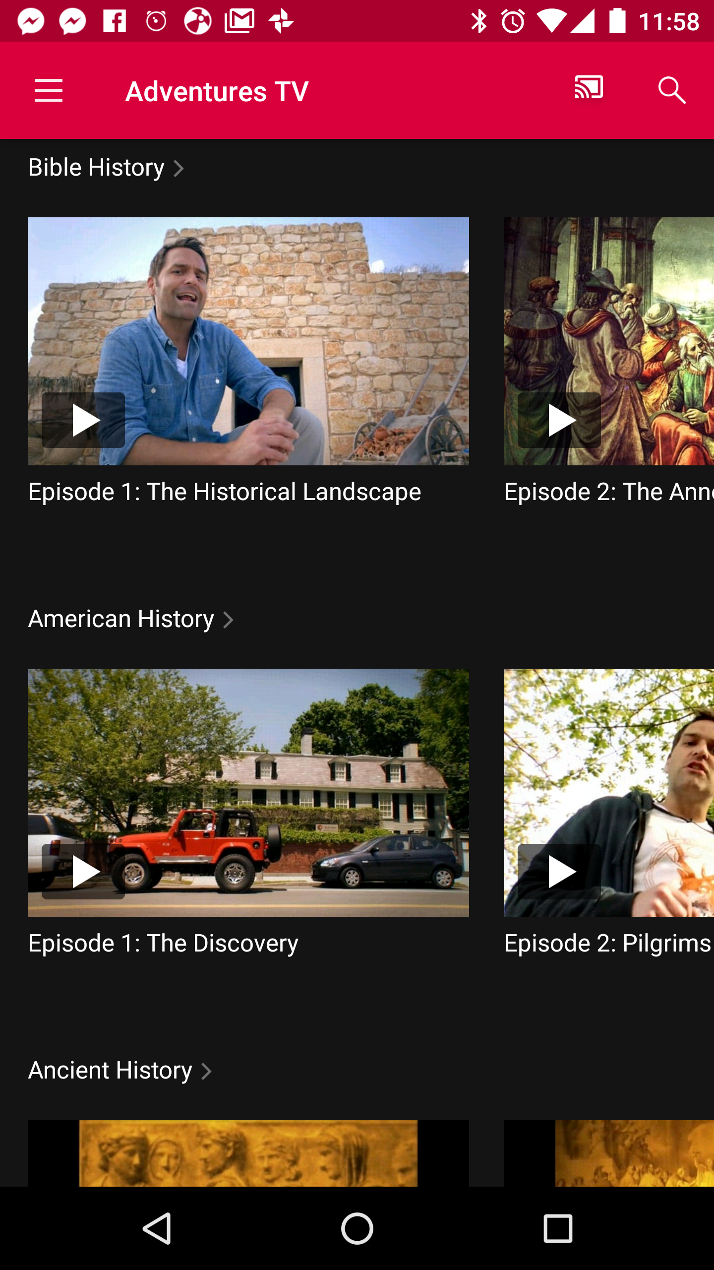 Drive Thru History Adventures TV App