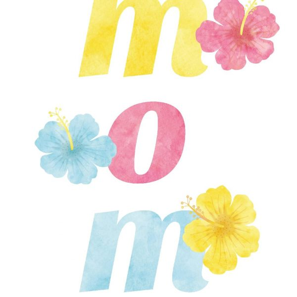 Beautiful MOM Word Art Printables for Mother's Day