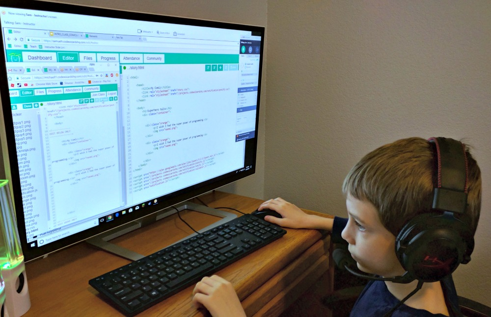 CodeWizardsHQ First Lesson and Coding RIGHT away - Homeschool coding classes for kids