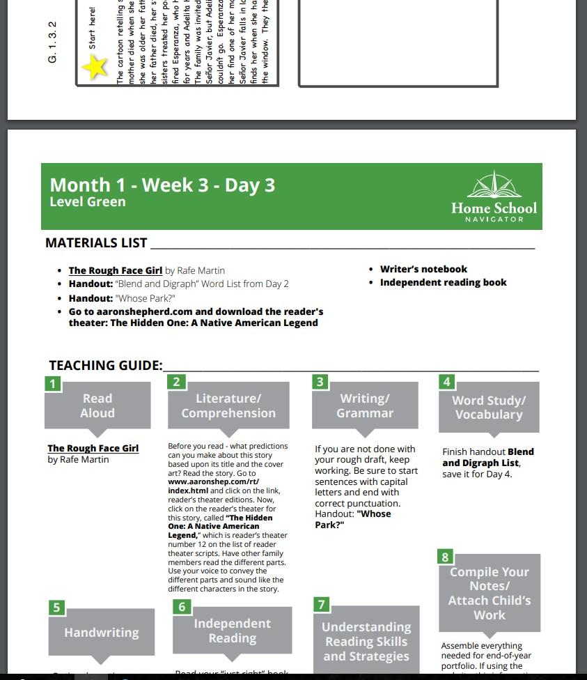 Home School Navigator Handouts
