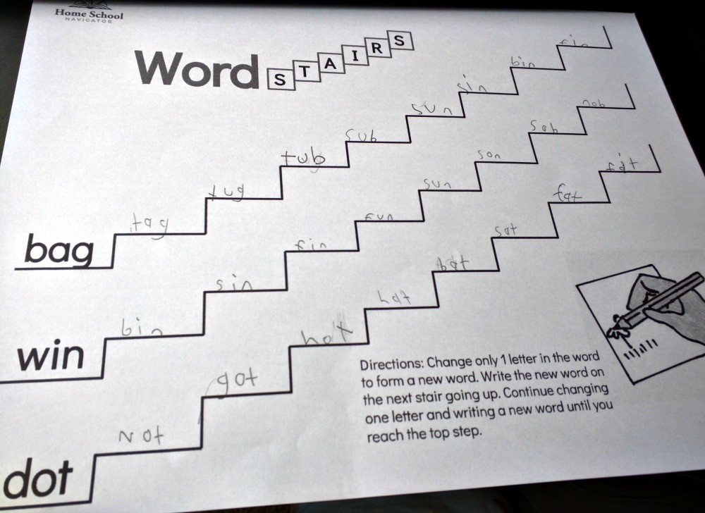Home School Navigator Word Stairs