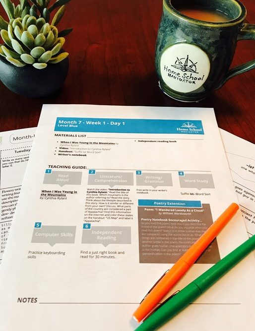 Home School Navigator Reading and Language Arts Curriculum REVIEW