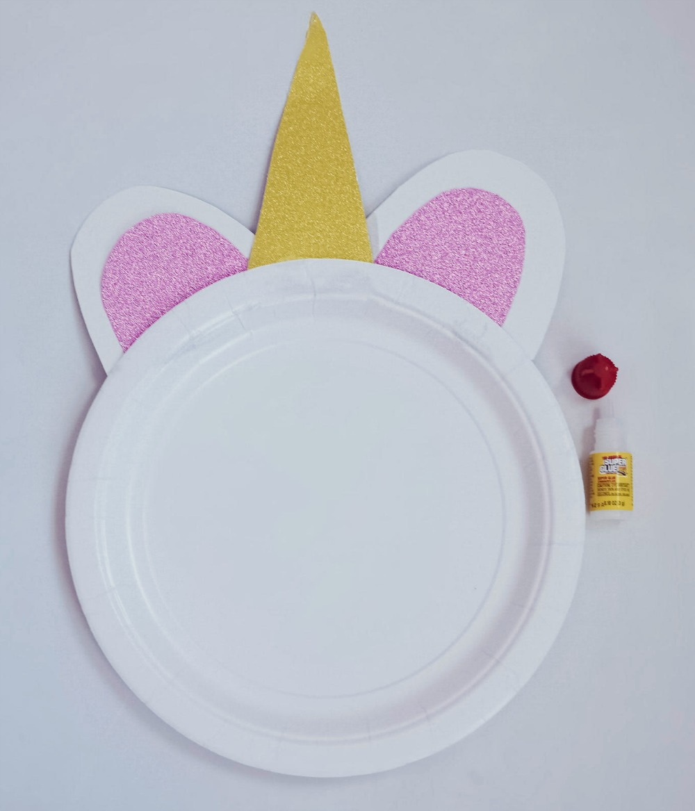 Sparkly Unicorn Paper Plate Craft