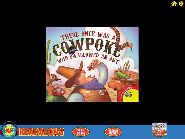 there once was a cowpoke who swallowed an ant Readalong Opening Screen Weigl Publishers
