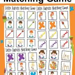 Little Artists Matching Game Printable