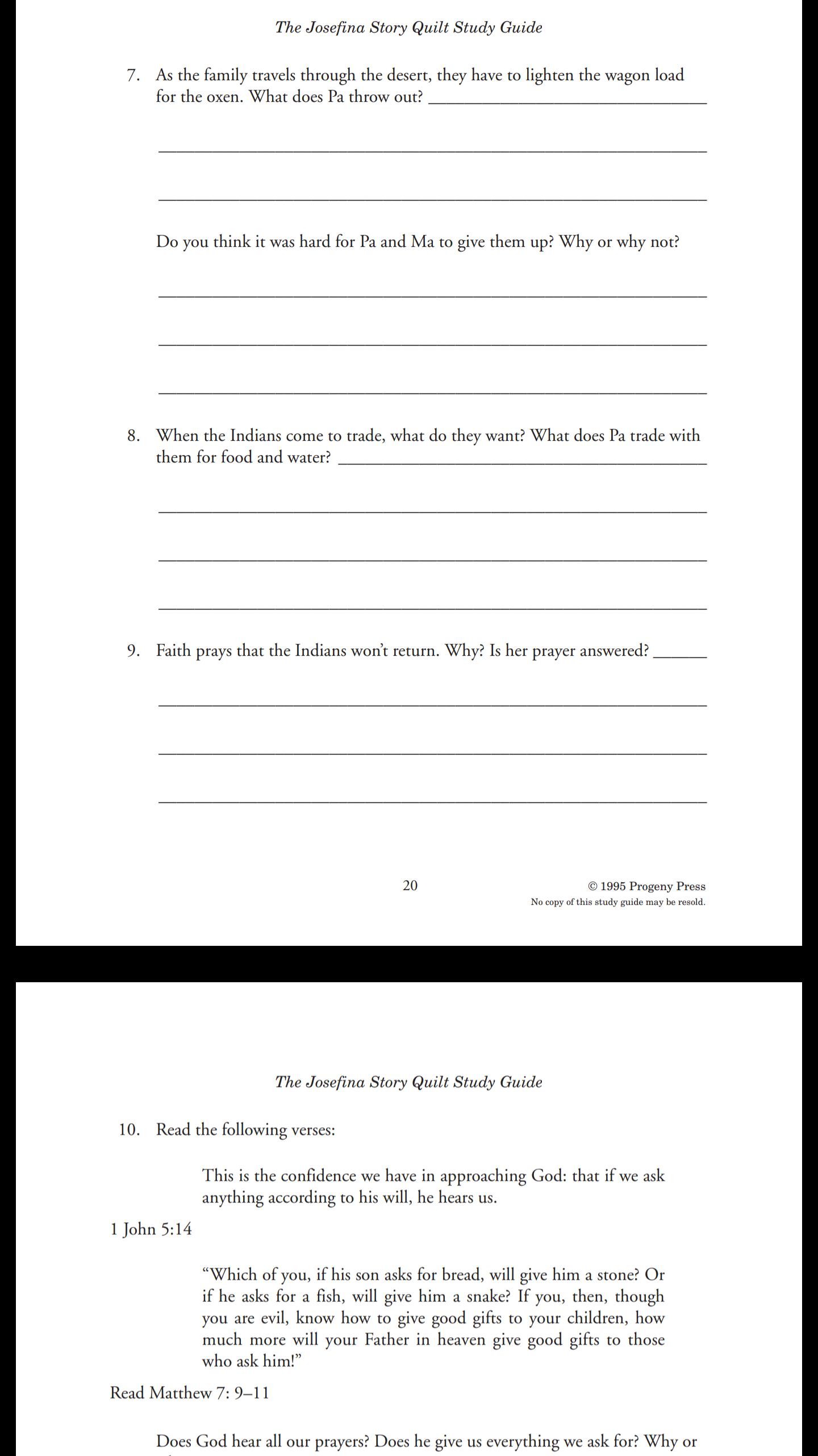 Progeny Press Study Guide