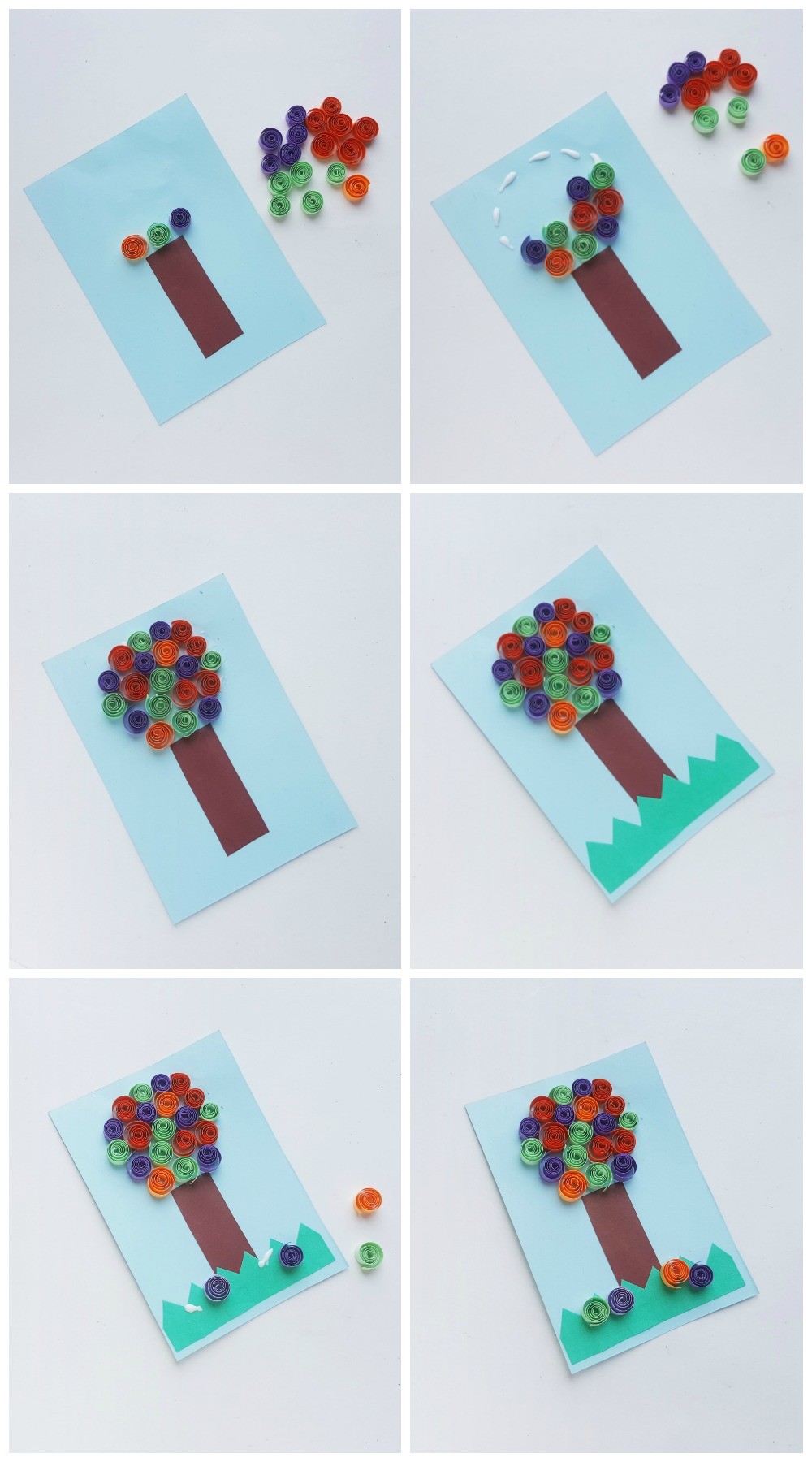 Unique and Adorable Paper Trees _ Quilling Craft Final Steps