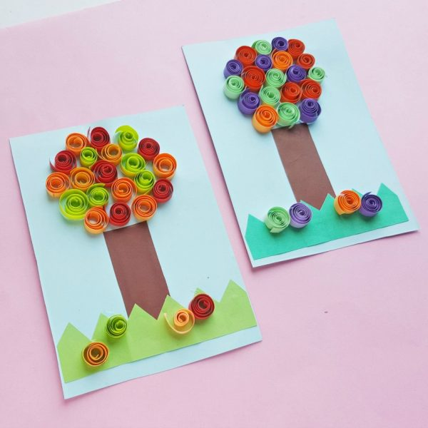 Unique and Adorable Paper Trees ~ Quilling Craft