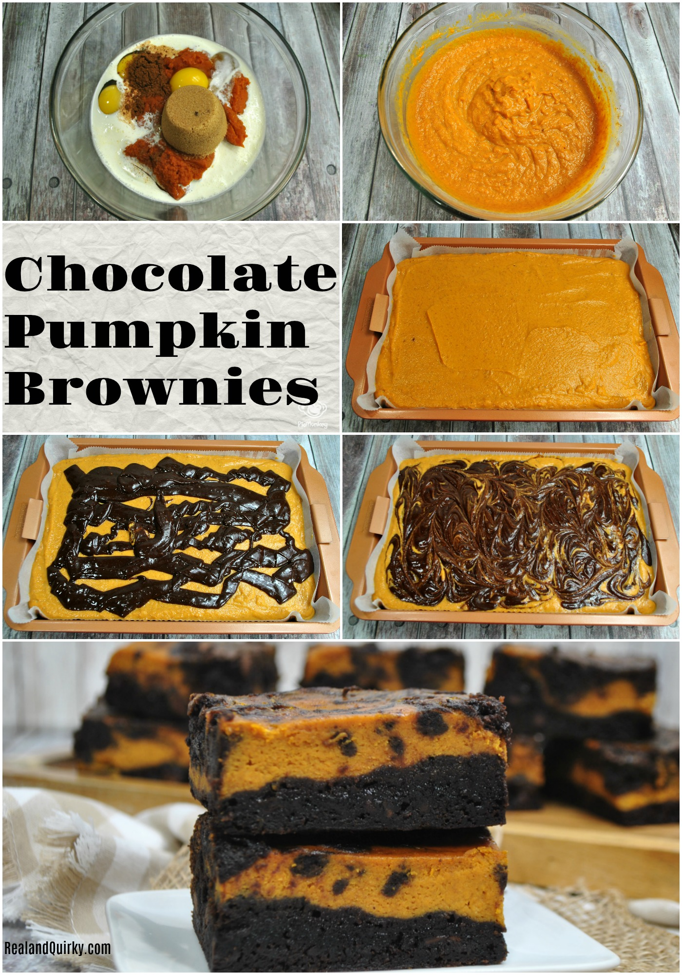 Chocolate Pumpkin Brownies Recipe