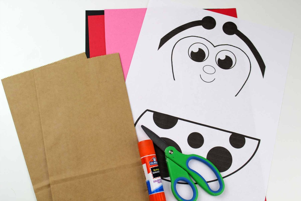 Paper Bag Craft - Ladybug Puppet Supplies