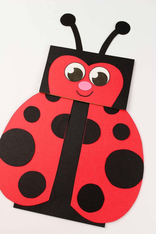 Paper Bag Craft - Ladybug Puppet
