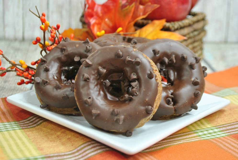 Delicious Homemade Apple Chocolate Chip Donuts