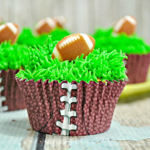 Football Cupcakes for the Big Game