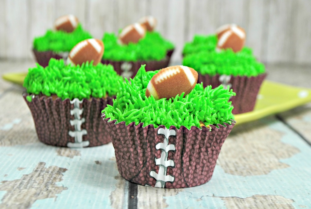Football Cupcakes for the Big Game Recipe
