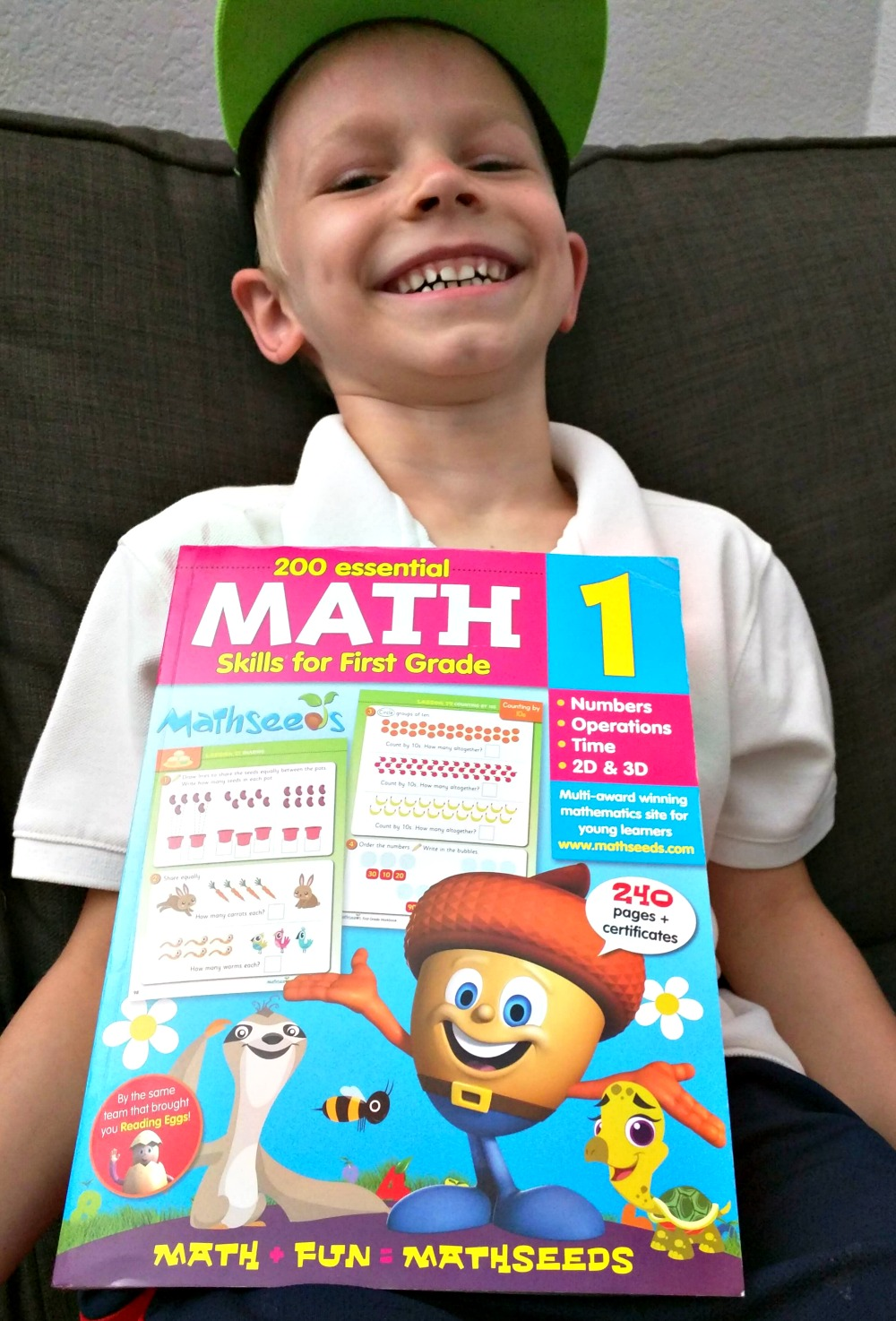 Mathseeds 200 Essential Math Skills for First Grade Full-Color Workbook