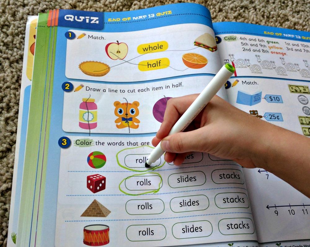 Mathseeds workbook Quiz for first grader