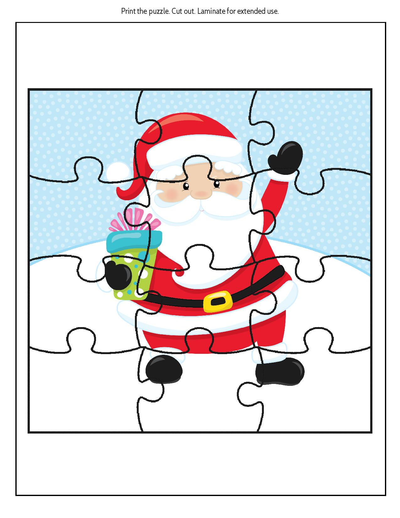 Christmas Jigsaw Puzzle as part of a FREE Printable Educational Christmas Puzzle Pack
