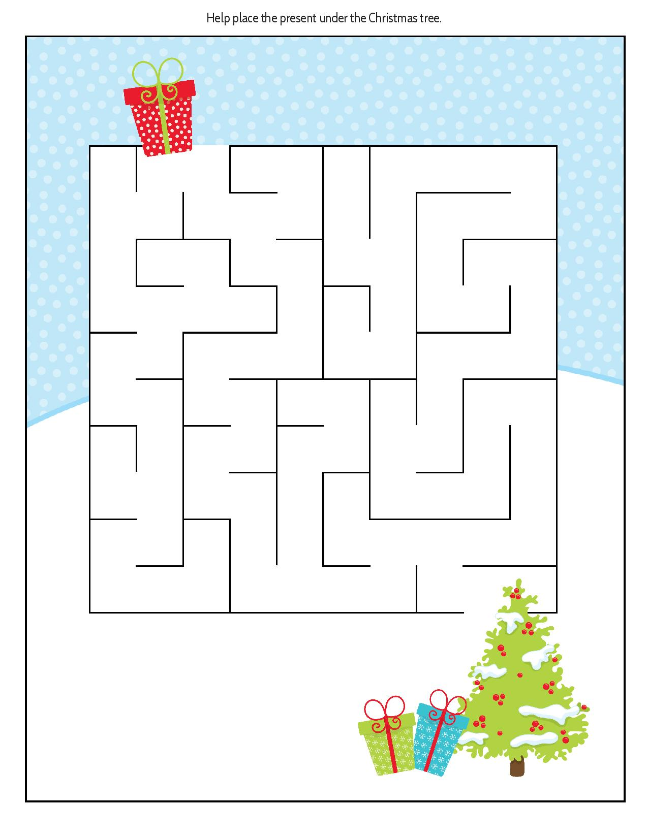 Christmas Maze as part of FREE Educational Christmas Puzzle Pack