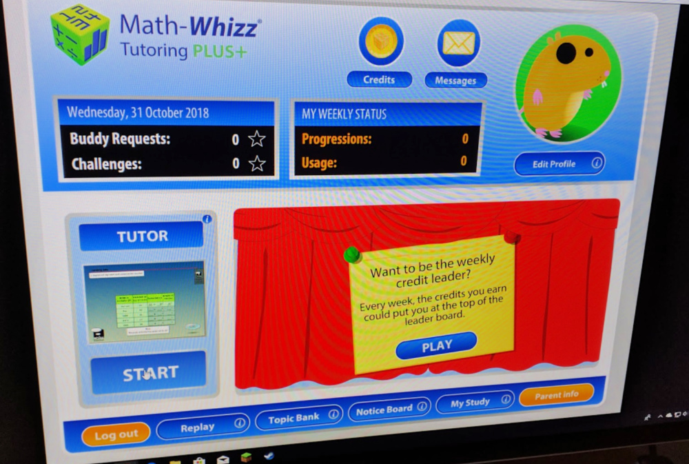 Math-Whizz Math Tutor for students Log In Menu