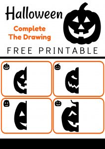 Halloween Printable Complete the Jack-O-Lanterns Drawing