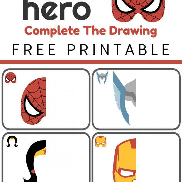 Complete the Drawing – Super Heroes Printable