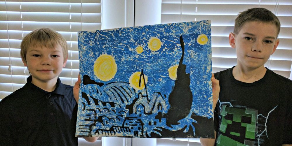 The Starry Night Art Kit Review from Master Kitz Final Results