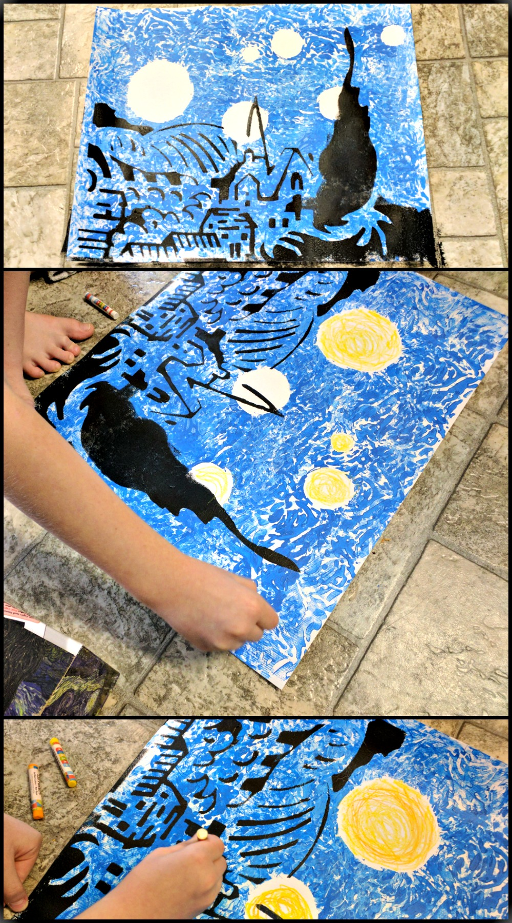 The Starry Night Art Kit Review from Master Kitz Finishing up the Final Details