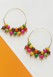 Beaded Hoop Earrings DIY Craft