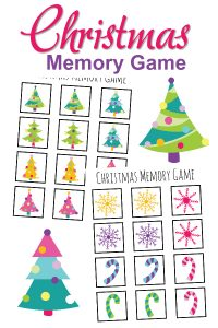 Christmas Memory Game Printable
