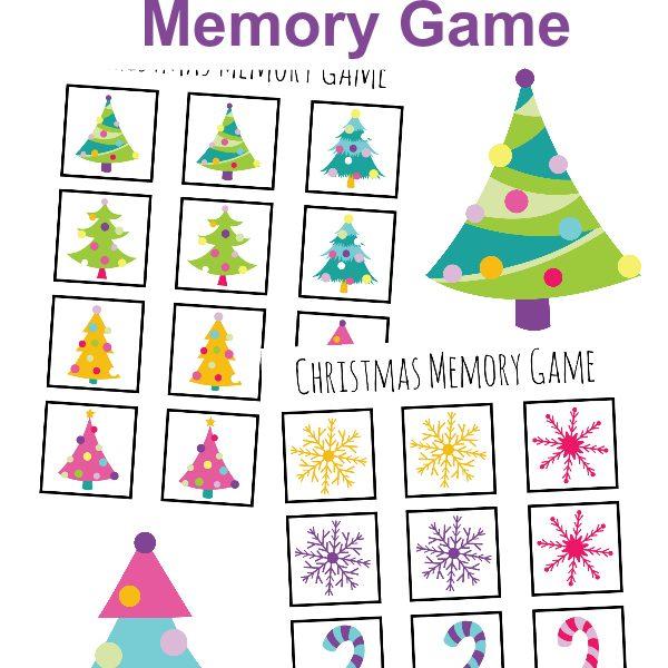 FREE Christmas Themed Matching Memory Game Printables