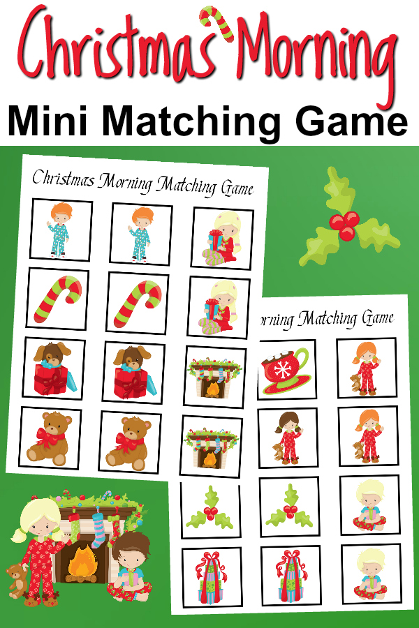 Christmas Morning Mini Matching Game