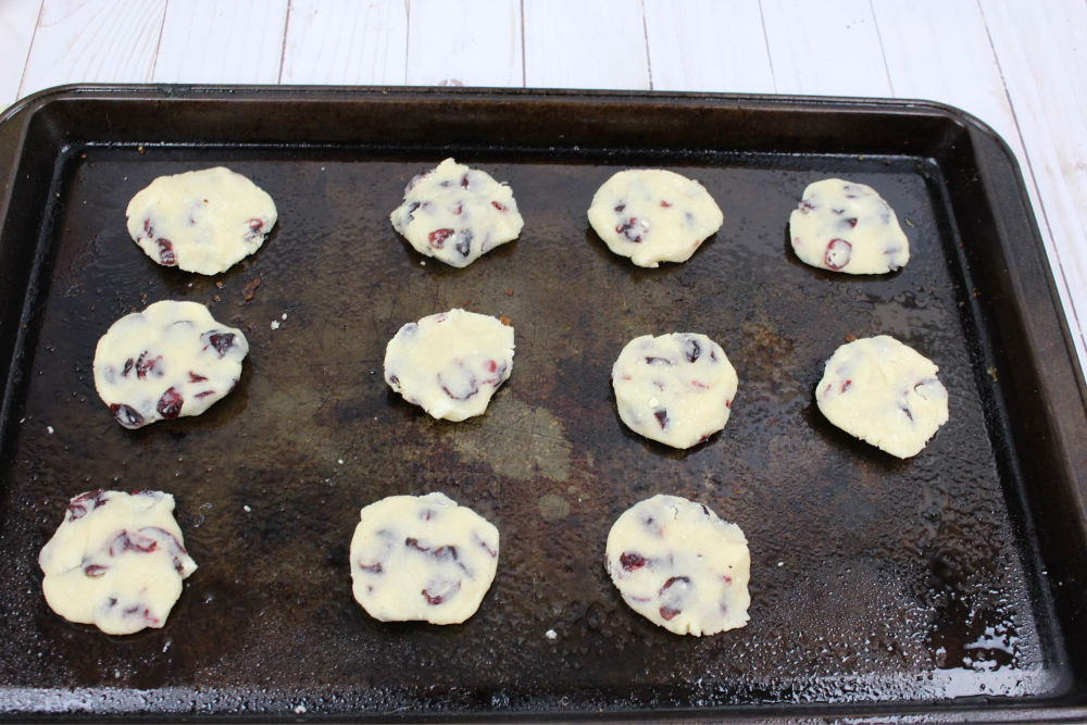 Easy Cranberry Sugar Cookies Dough