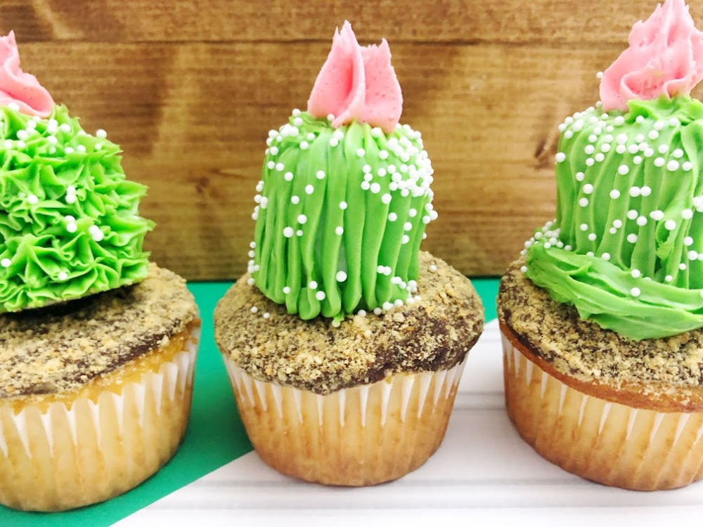 Cactus Cupcakes Finished