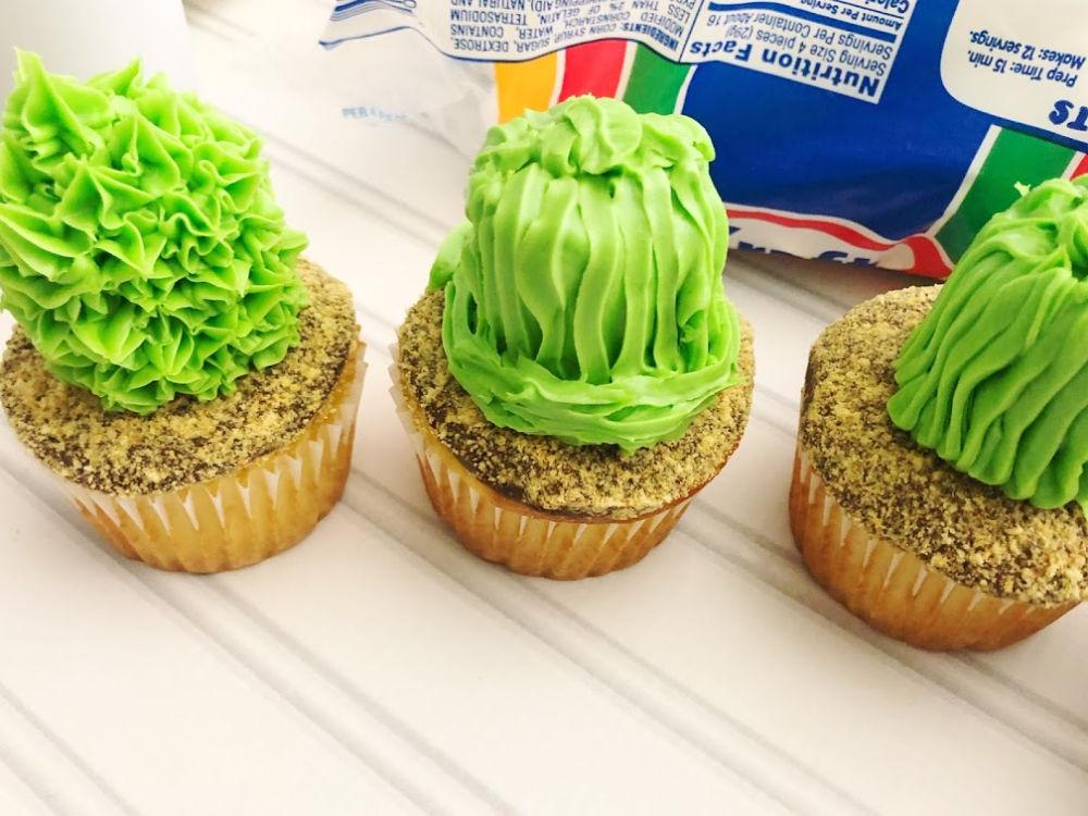 Cactus Cupcakes Various Designs
