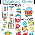 Robot Matching Game FREE Printable