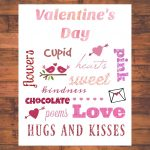 Valentine's Day Word Art FREE Printable