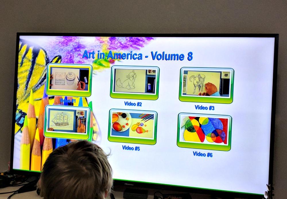 ARTistic Pursuits Inc Art in America, K-3 Vol. 8 - Video Lessons