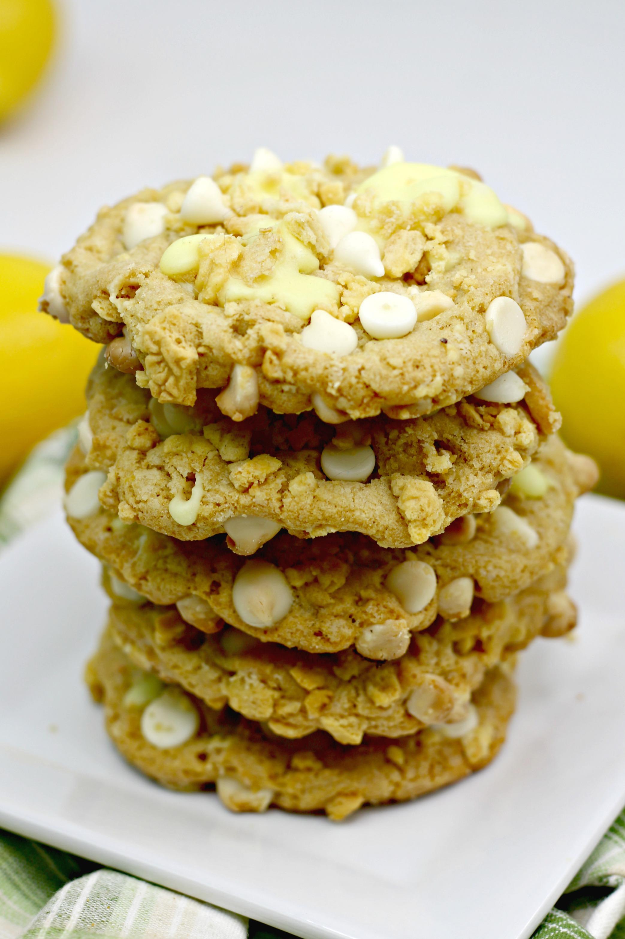 Lemon Stuffed Cookies Stacked