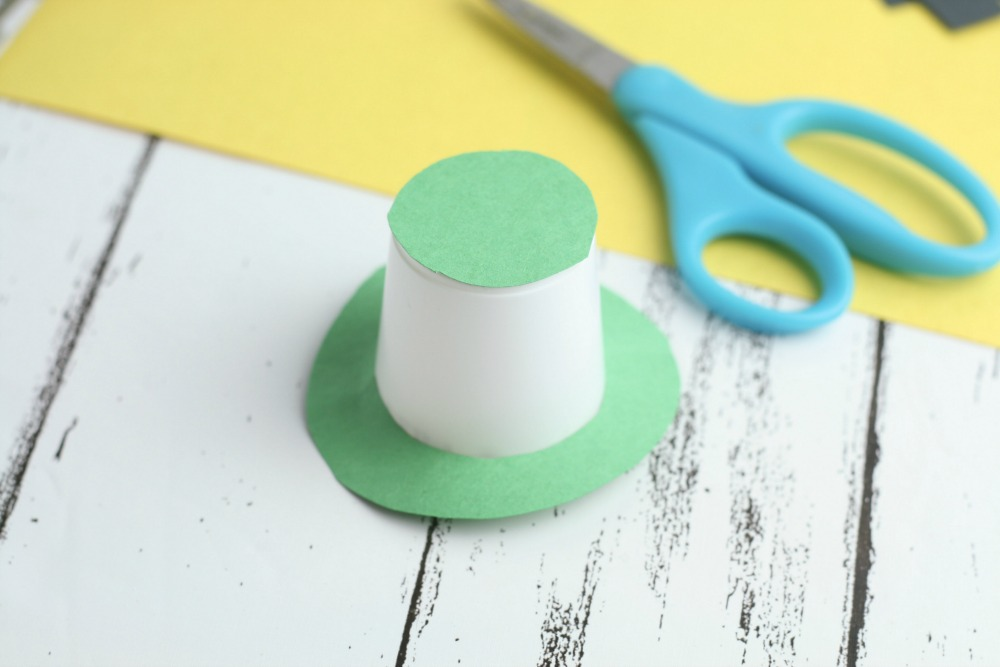 Leprechaun Hat DIY Craft using K-Cups Folded Making the Hat